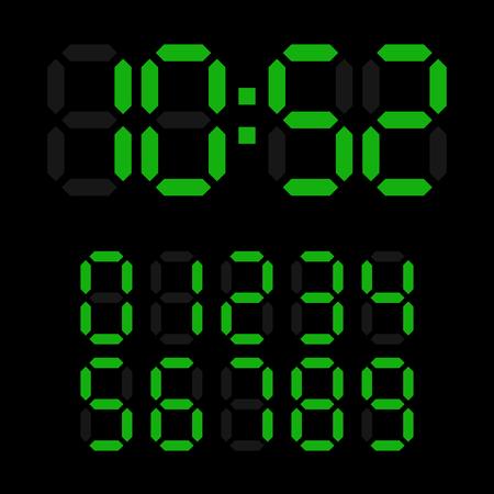 4 3 display: Green digital watch