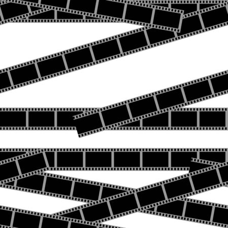 show time: Movie time seamless pattern Illustration