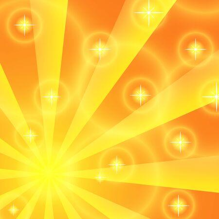 vector image: Sun rays background. Yellow Illustration