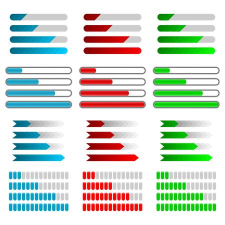 Set color progress bar vector