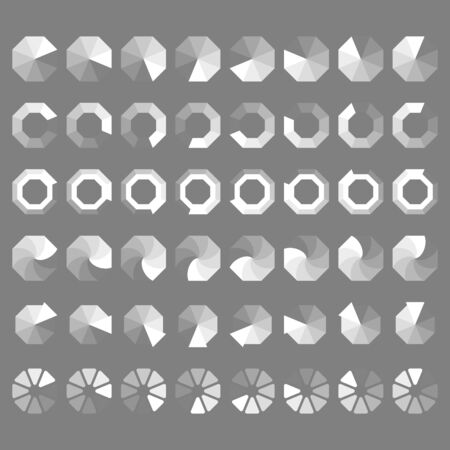 progressbar: Set preloaders and progress loading bar, octagonal style