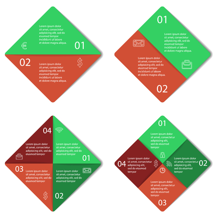 graphical chart: Set of square infographic diagram.  Illustration