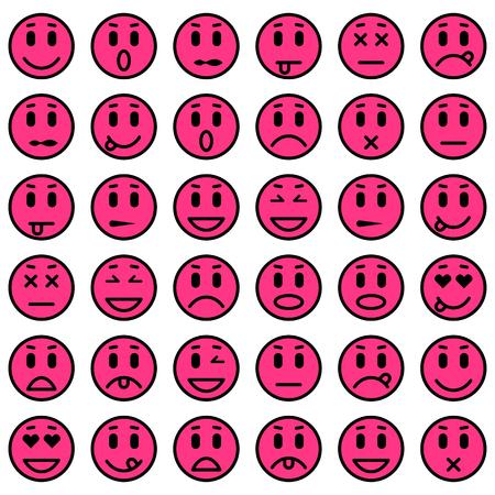 envy: Set of Emoticons. Set of Emoji. Isolated vector illustration