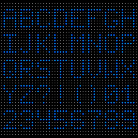 indicator board: Scoreboard LED letters and numbers. Vector alphabet Illustration