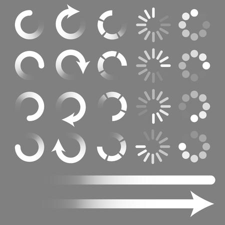 Set of loading elements. Preloaders and progress bar. Vector ePS10 Illustration