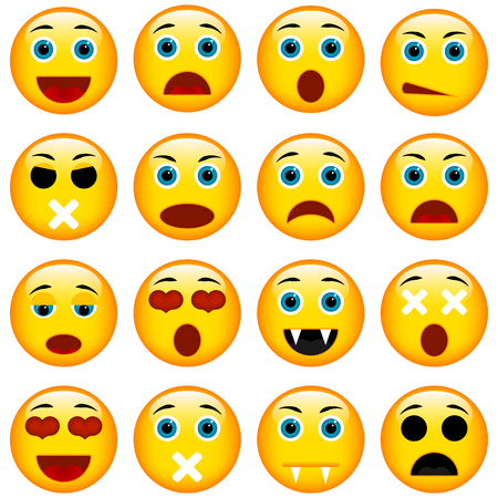 feeling bad: Set of Emoticons. Set of Emoji