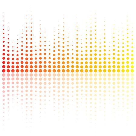 Digital equalizer, colorful sound wave. Vector illustration Illustration