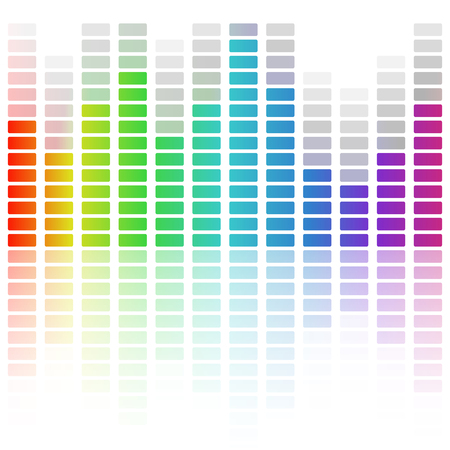 Digital equalizer, colorful sound wave. Vector illustration Vettoriali