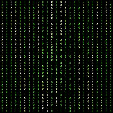 Binary code vector pattern. Information technologies background Illustration