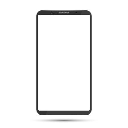 Smartphone mockup Black color digital gadget template.