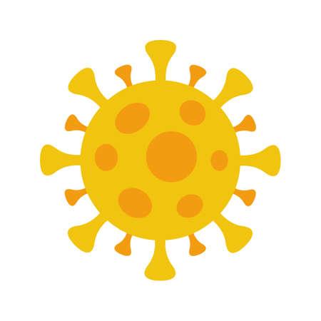 Coronavirus COVID-19 symbol. Flat circle virus icon. Global pandemic alert. Isolated vector illustration.