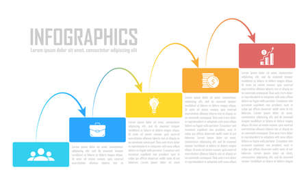 Template infographic vector with arrows and 5 steps or options. Infographics for business concept can be used for layout, presentations, banner, diagram or graph.
