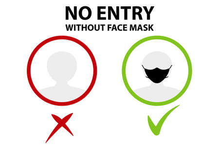 Face mask protection infographic. Medical and healthcare template can be used layout, diagram or graph. Vector flat illustration.
