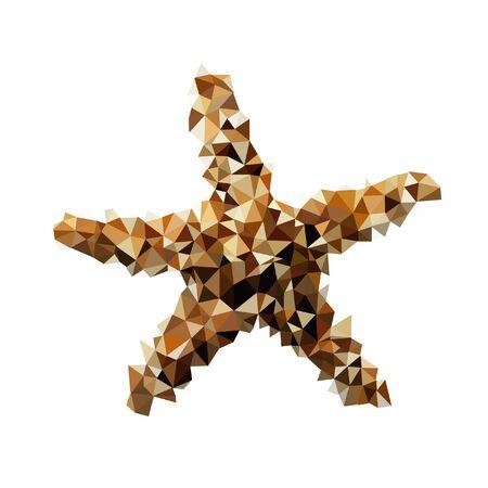 colorful geometric star, triangle polygon design, vector background Illustration