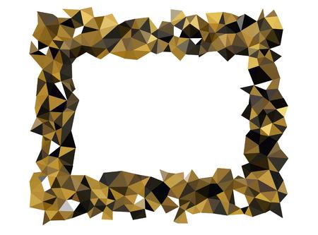 colorful geometric border, triangle polygon design, vector background Illustration