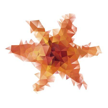Colorful geometric star, triangle polygon design, vector background