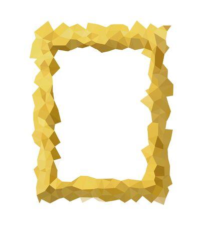 Colorful geometric border, triangle polygon design, vector background