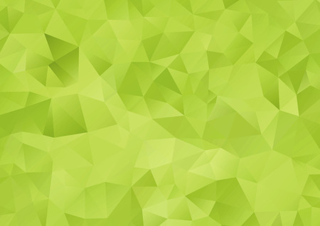 Vector - Abstract green geometric background, vector from polygons, triangle, vector illustration, vector pattern, triangular template