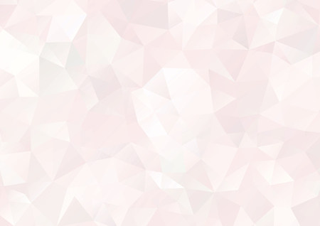 Vector - Abstract pink, pale geometric gradient background, vector from polygons, triangle, vector illustration, vector pattern, triangular template