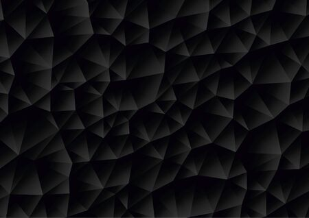 Vector - Abstract black geometric gradient background, vector from polygons, triangle, vector illustration, vector pattern, triangular template