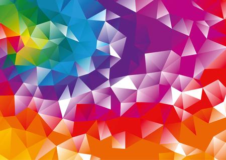 Abstract orange, red, purple, blue geometric background, vector Illustration