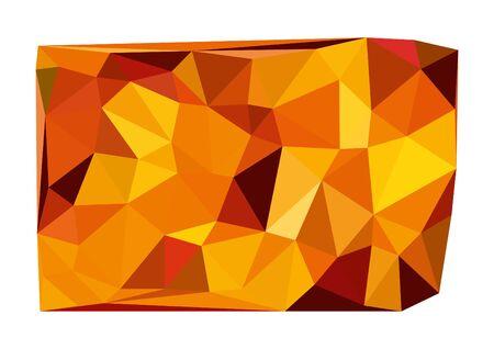 Abstract orange geometric gradient background.
