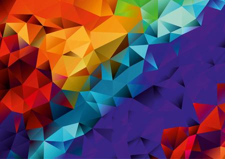 Abstract orange, red, purple, blue geometric background, vector Vettoriali