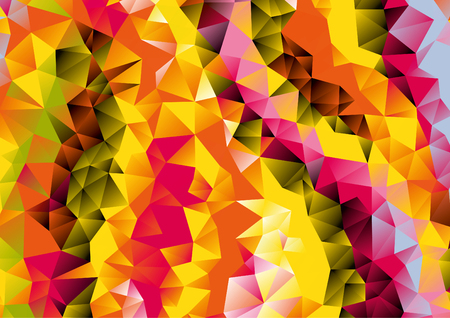 Abstract orange, red, purple, blue geometric background, vector Illustration