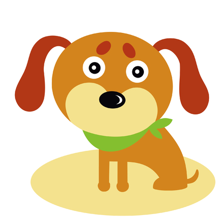 Vector illustration of funny cartoon dog. 向量圖像
