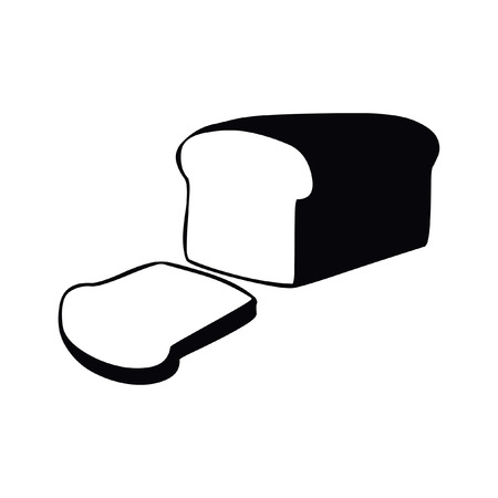 Bread vector icon isolated on white Illustration