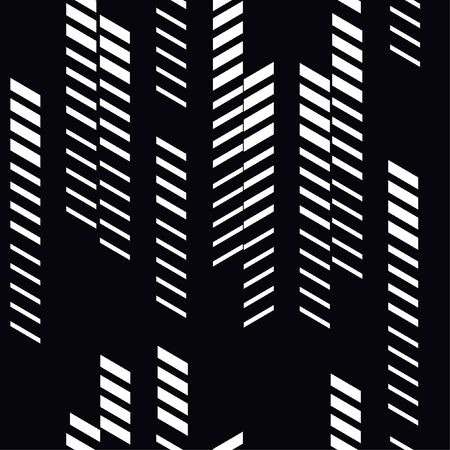 Abstract geometric seamless pattern with vertical fading lines, tracks, halftone stripes.