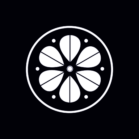 Archivio Fotografico - Elemento cerchio geometrico fatto di rettangoli radianti. Forma astratta del cerchio Vettoriali
