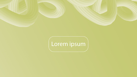 Futuristic baroque gradient geometric background. Liquid color wallpaper design. 3d wavy shapes abstract background. Vibrant flowing curves. Trendy green and yellow composition. 일러스트