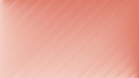 Abstract pastel soft colorful lines. Living coral gradient background. Trendy pale pink composition. Ilustração