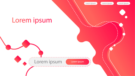 Abstract Creative concept. Red Gradient Landing page. Vector for Mobile Applications and Web, business infographic Illustration, booklet, document, template design, presentation, brochure, site. Ilustração