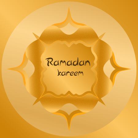 Ramadan kareem with golden luxurious pattern, template islamic ornate greeting card vector Stok Fotoğraf