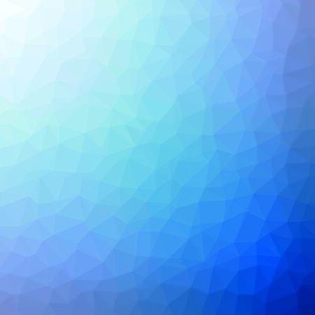 Fondo azul de moda. Estilo abstracto Low Poly. Plantilla de polígono de cristal. Diseño moderno para empresas, ciencia y tecnología. Ilustración de vector de origami.