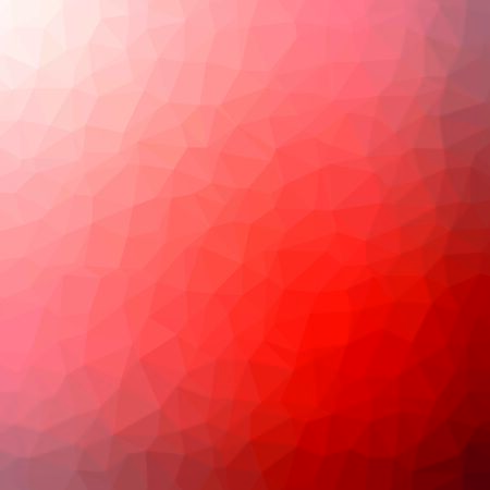 Red and orange crystal polygon background. Low poly mosaic banner. Geometric rumpled triangular origami style gradient illustration. Vetores