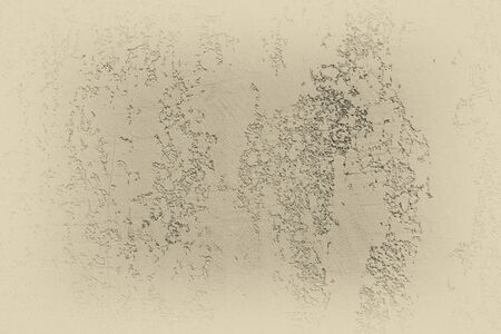 Cream grungy concrete wall texture. Stone surface pattern. Gradient wallpaper shape. Backdrop have copy space for text.