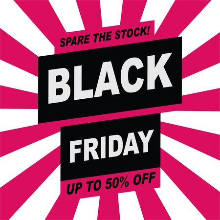 BLACK FRIDAY banner template design. Special offer. End of season special Limited sales. Discounts, 50 off.