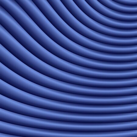 Classic Blue abstract gradient zig zag background with lines. Fabric waves vortex print. Modern graphic texture. Geometric template. Textile pattern. Color of the year 2020 Archivio Fotografico - 135479845