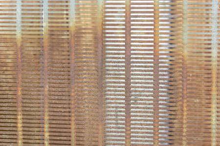 Metallic rusty grid. Place for text.