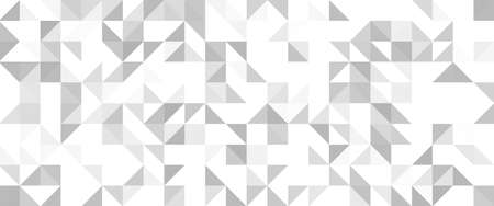 Grey geometric pattern. Triangle surface textures. Low poly design. Archivio Fotografico - 162701365