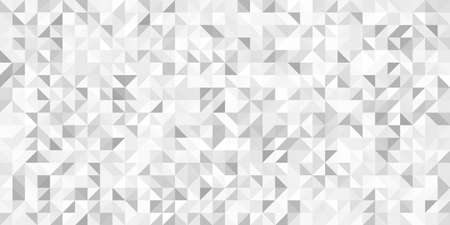 Grey geometric pattern. Triangle surface textures. Low poly design. Vettoriali