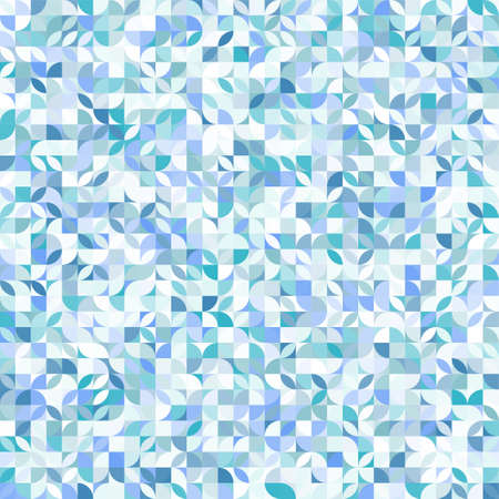 Blue geometric pattern. Abstract decorative backdrop can be used for wallpaper. Vettoriali