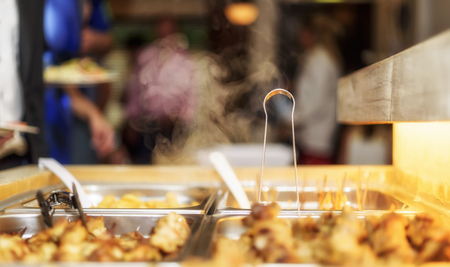 self worth: Customer in restaurant blur background with bokeh Stock Photo