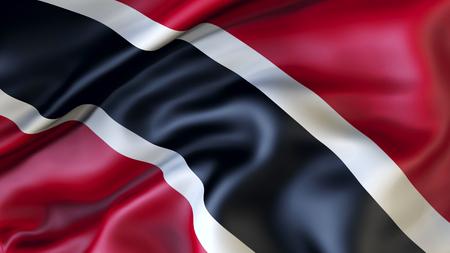 Waving flag of Trinidad and Tobago