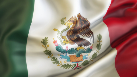 Flag, Mexico, Waiving Flag of Mexico Stock Photo - 90177700