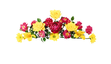 Flowers. Colorful flowers bouquet isolated on white background Stock Photo