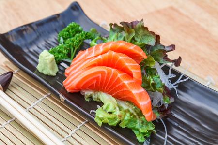 Japanese traditional food - sashimi salmon